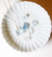 Garden of Eden / Gemstone Necklace (アクアマリン)# SILVER