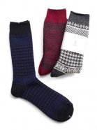 Wizzard / HOUNDSTOOTH CHECK SOCKS<ハウンドトゥースチェックソックス> # ブルー