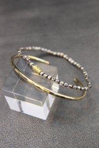 Atease [アティース] BRASS BEADS 2-SET BRACELET<ブラスビーズ2セットブレスレット(バングル)> #ゴールド