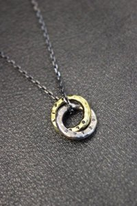 Atease / DOUBLE RING NECKLACE<ダブルリングネックレス> # ゴールド