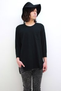 VICTIM / 3/4 LONG THERMAL CUTSEWN<ロングサーマルカットソー> # ブラック