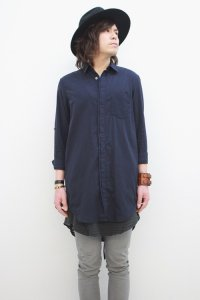 Wizzard / LONG SHIRT<ロングシャツ> # ダークネイビー