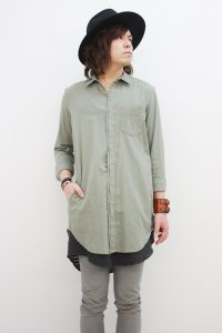 Wizzard / LONG SHIRT<ロングシャツ> # カーキ