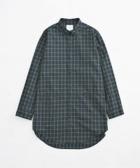 VICTIM / LONG CHECK SHIRTS<ロングチェックシャツ> # グリーン
