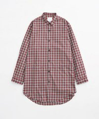VICTIM / LONG CHECK SHIRTS<ロングチェックシャツ> # レッド