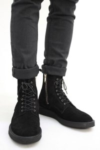 【2015AW 先行予約】 Wizzard × LIBERTAS / LEATHER SIDE-ZIP BOOTS<レザーサイドジップブーツ> # ブラック