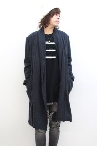 TROVE / MID SUMMER COAT<ショールカラーコート> # ミックスネイビー