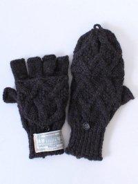 TROVE / KASI KNIT GLOVE<カシニットグローブ(手袋)> # ミックスネイビー