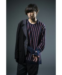 【2016S/S先行予約】glamb / Rowland Creed Knit<ストライプクリードニット> # 2色展開