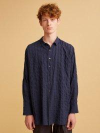 TROVE / ATELIER PATTERN SHIRT<アトリエパターンシャツ> #ネイビーストライプ