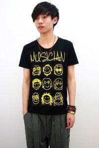 glamb / MUSICIAN T<MUSICIAN Tシャツ> # ブラック