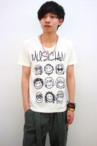 glamb / MUSICIAN T<MUSICIAN Tシャツ> # ホワイト