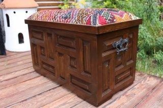 キリム家具 サンドゥク 収納木箱スツール #23