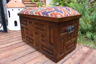 キリム家具 サンドゥク 収納木箱スツール #24