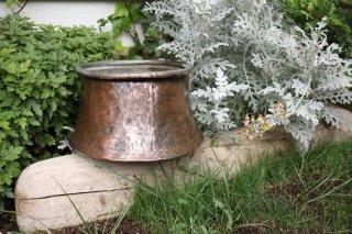 トルコ製 古い銅容器 古いヨーグルトカップ オブジェとして