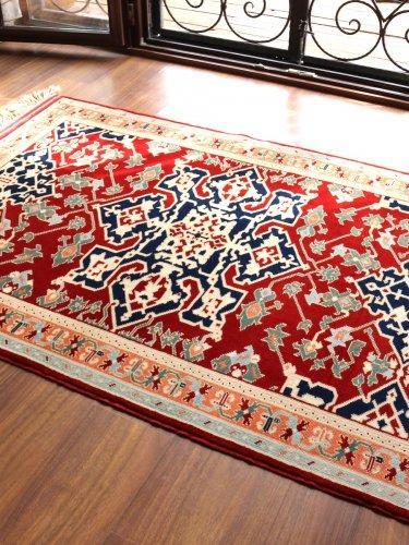 コレクショントルコ絨毯 草木染一級品 ウシャク スター 180x124cm