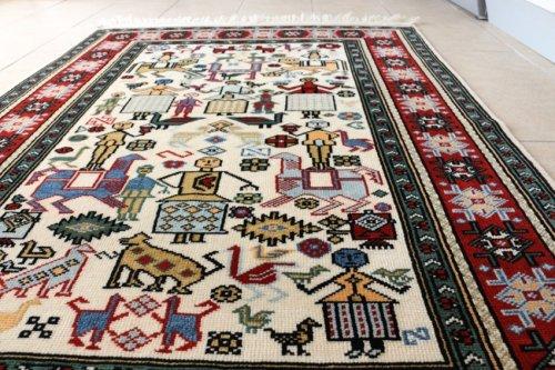 コレクショントルコ絨毯 草木染一級品 ウシャク パザル 167x114cm