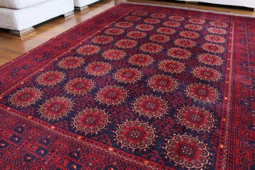 アフガン絨毯 上品でデザインも品格のある定番アフガン クンドゥズ 約243x168cm