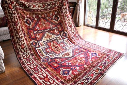 オールド絨毯 トルコ チャナッカレ 嫁入り コレクションピース 約269x189cm