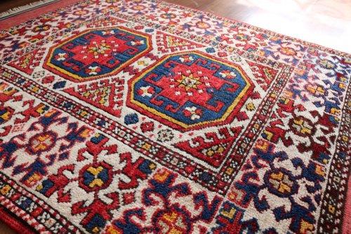 オールド絨毯 トルコ チャナッカレ 嫁入り コレクション 約136x99cm