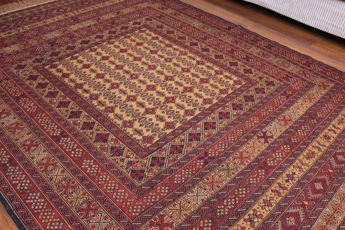 アフガン 繊細なマリーキ 約185x142cm
