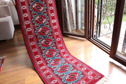 綺麗色 トルクメン絨毯 ランナー