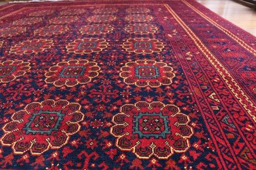 アフガン絨毯 シックなクンドゥズ 約233x178cm