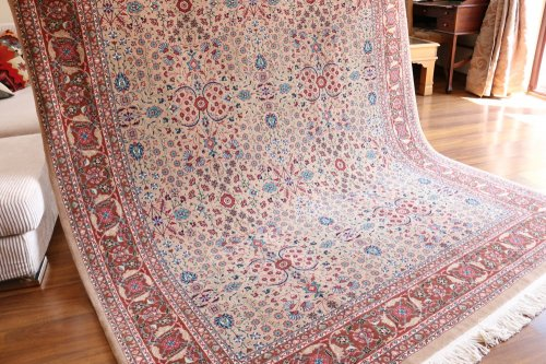 最高級ヘレケ絨毯 幻のシュメル 7つの山の花  約256x203cm