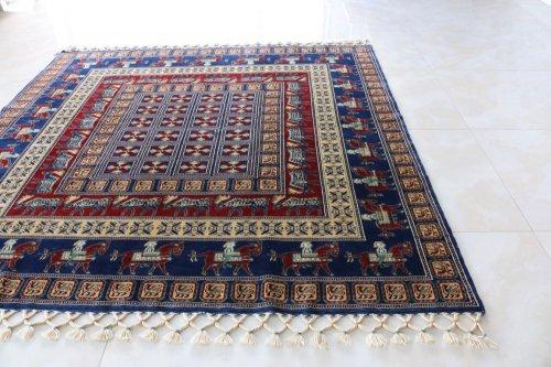 コレクション <br>トルコ絨毯 老舗工房による天然染料 Pazyryk絨毯 182x182cm