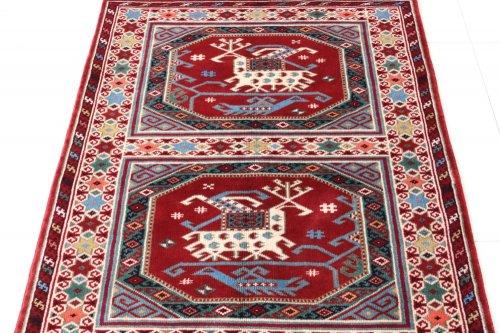 コレクション <br>トルコ絨毯 老舗工房による天然染料 15世紀の絨毯デザイン 約116x83cm