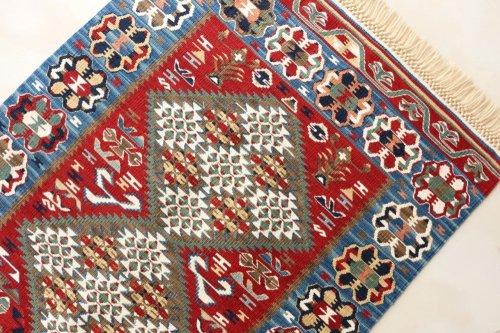 コレクション <br>緻密な織りのキリム 老舗工房による天然染料 約89x63cm