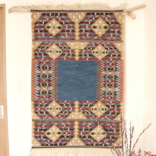 コレクション <br>緻密な織りのキリム 老舗工房による天然染料 約136x91cm