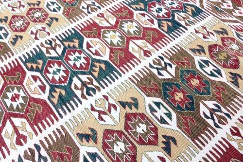 コレクション <br>緻密な織りのキリム 老舗工房による天然染料 約135x91cm