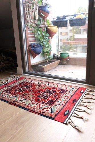 コレクション <br>トルコ絨毯 老舗工房による天然染料 15世紀の絨毯デザイン 約105x64cm