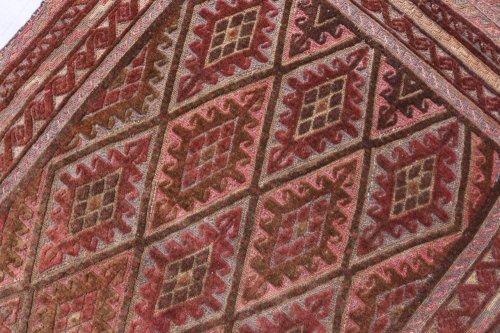 オールド ムシュワニ スマック織とパイル織の混合キリム 約112x80cm