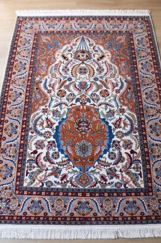 最高級トルコ絨毯 ヘレケ 美しすぎるサライカンディリ=宮殿のシャンデリア 約197x143cm