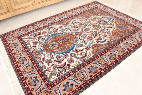 最高級トルコ絨毯 ヘレケ 美しすぎるサライカンディリ=宮殿のシャンデリア 約194x136cm