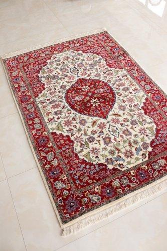 最高級トルコ絨毯 ヘレケ 美しいレア柄梅の枝 約200x141cm