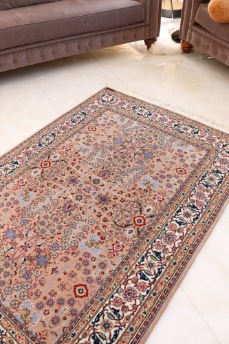 最高級トルコ絨毯 ヘレケ 七つの山の花 約175x120cm