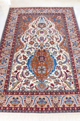 最高級トルコ絨毯 ヘレケ 美しすぎるサライカンディリ=宮殿のシャンデリア 約204x142cm