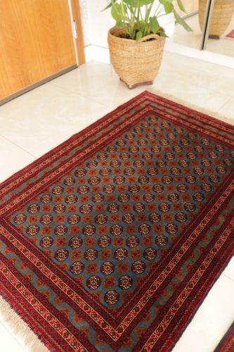 (割引対象外)アフガニスタン最高級絨毯 アフガン絨毯の女王ホジャロシュナイ   約144x100cm
