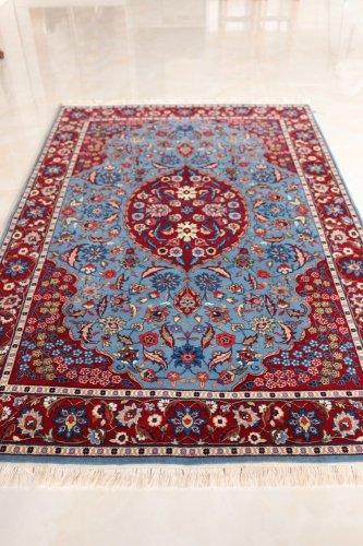 最高級トルコ絨毯 ヘレケ 美しいレア柄梅の枝 約201x129cm