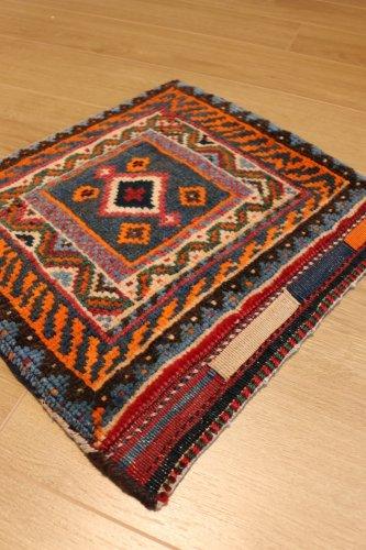 カシュカイ族 遊牧民のバッグ  チャンタ へイベ 約42x44cm