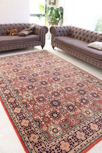 (H様ご検討中)最高級ヘレケ絨毯 シュメル製 100周年 Kafkasカフカス