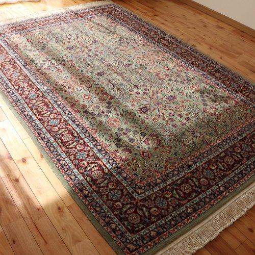 ヘレケ絨毯 シュメル製 七つの山の花 約235x155cm