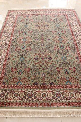ヘレケ絨毯 シュメル製 七つの山の花 約232x171cm