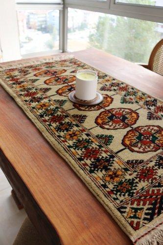 綺麗色 トルクメン ブハラ絨毯 約99x51cm