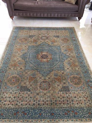 マムルーク絨毯 手紡草木染 252x186cm