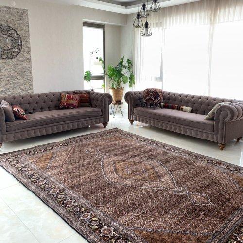 ニューオールド 上品で高級感あふれるマヒ ペルシャ絨毯  349x249