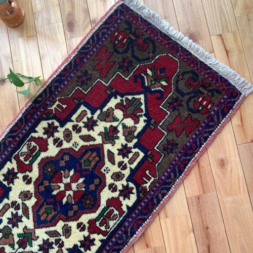 綺麗なヤストゥック トルコ絨毯 108x51